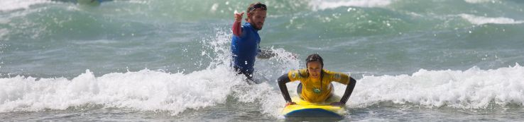 Learning to surf in a prone position